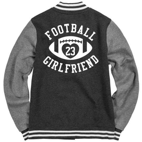 Custom Football Girlfriend Varsity Jacket