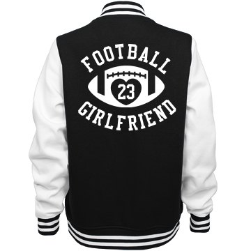 Custom Football Girlfriend Varsity Jacket
