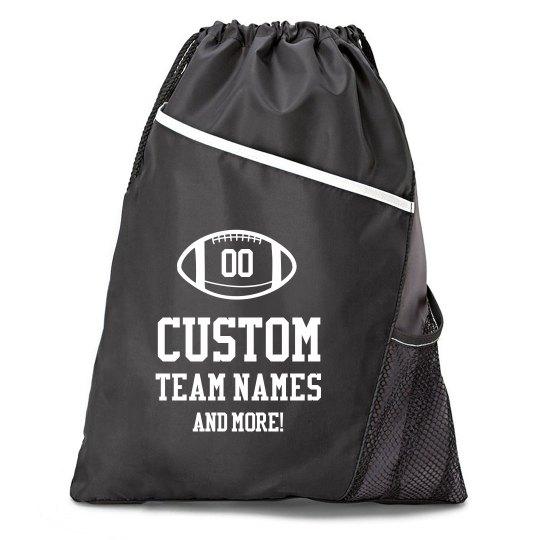 Custom Football Grab 'N Go Bags