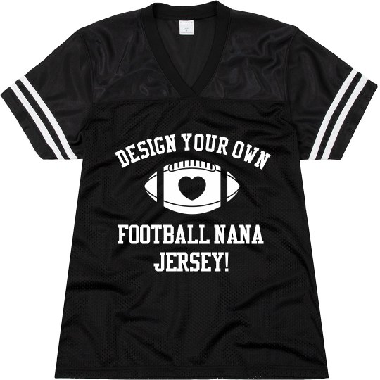 Custom Football Grandma Jerseys With Name Number