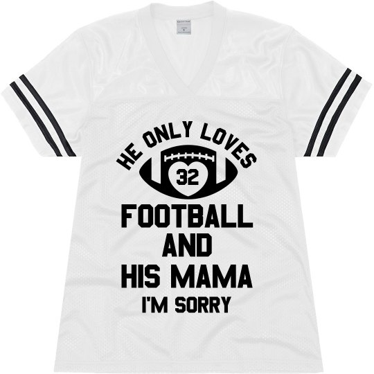 Custom Football Mama Text