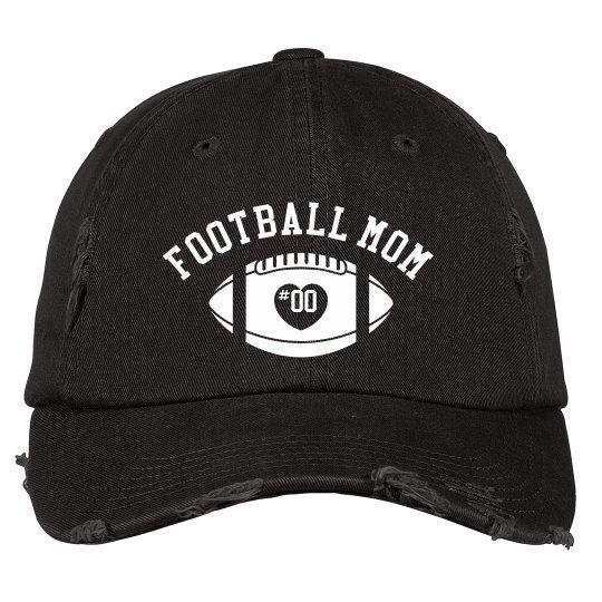 Custom Football Mom Distressed Hat
