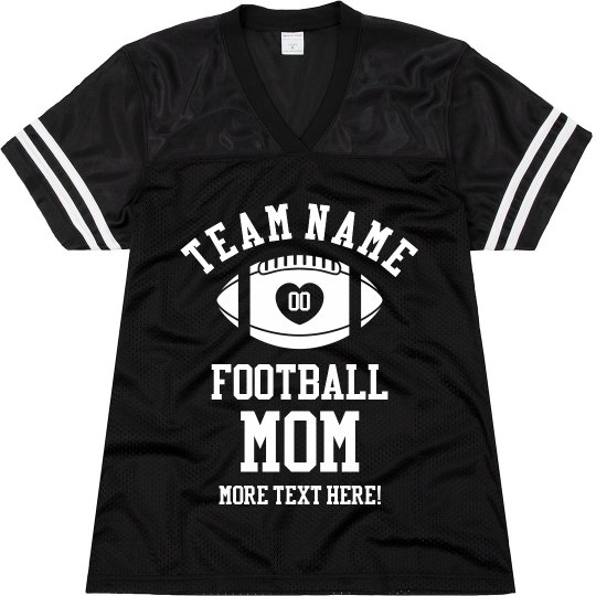 Custom Football Mom Jersey with Personalized Text