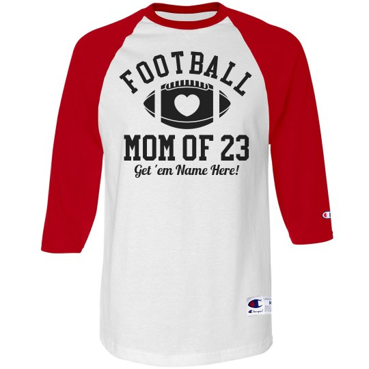 Custom Football Mom Shirt With Custom Name Number