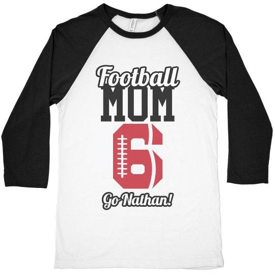 Custom Football Mom Shirt With Name Number
