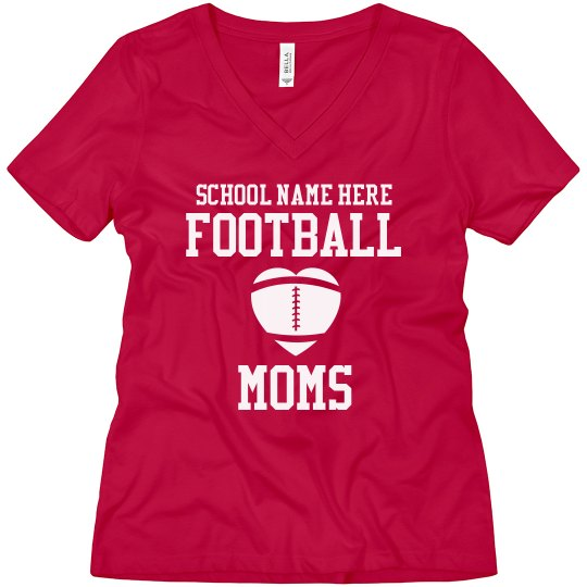 Custom Football Mom Shirts With Name Number