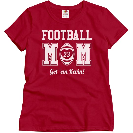 Custom Football Mom With Name Number