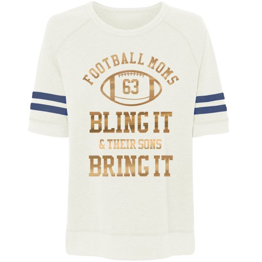 Custom Football Moms Bling It