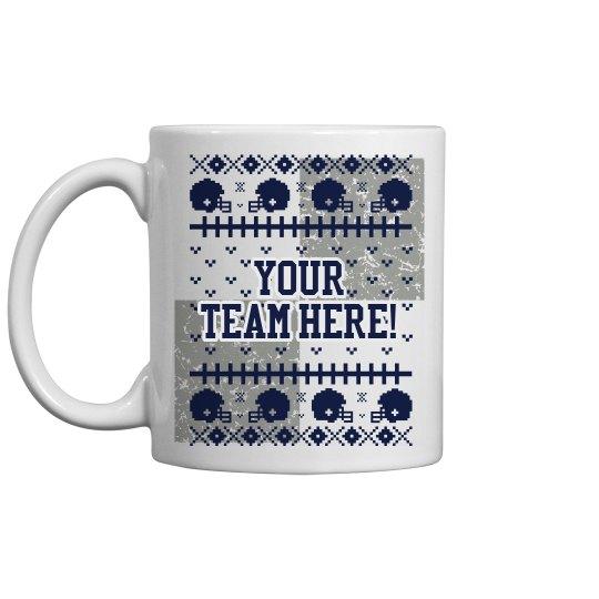 Custom Football Mug 11oz Ceramic Coffee Mug