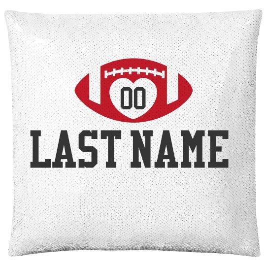 Custom Football Name & Number Pillow