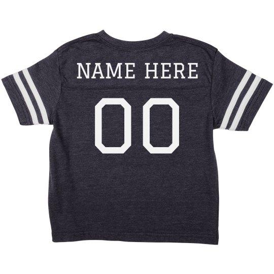 Custom Football Name/No. Toddler