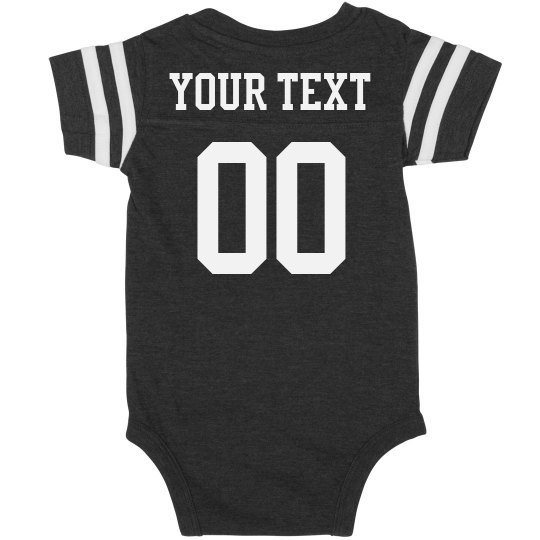 af42a283e Custom Football Onesie Name/Number Infant Vintage Sports Bodysuit