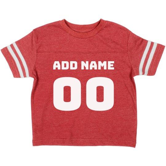 Custom Football Player Name/No. Kid