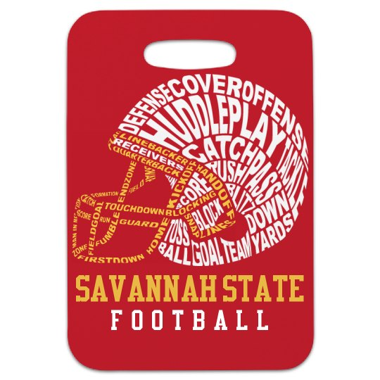 Custom Football Tag