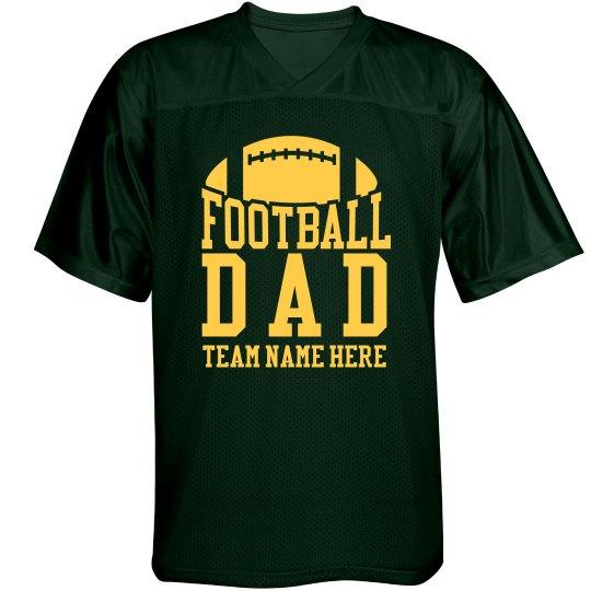 Custom Football Team Dad Jersey