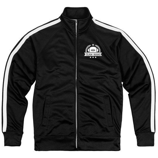 Custom Football Team Emblem Sport Zip Jacket