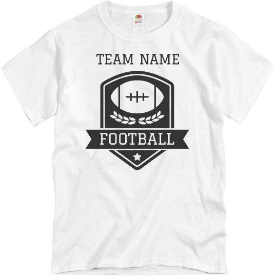 Custom Football Team Emblem Tee