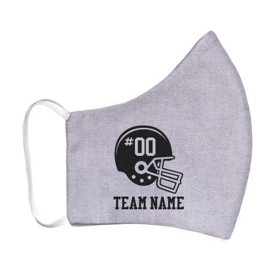 Custom Football Team Number Mask