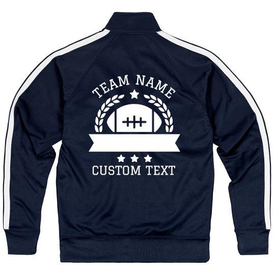 Custom Football Team Sport Zip Jacket