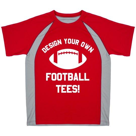 Custom Football Tee Design