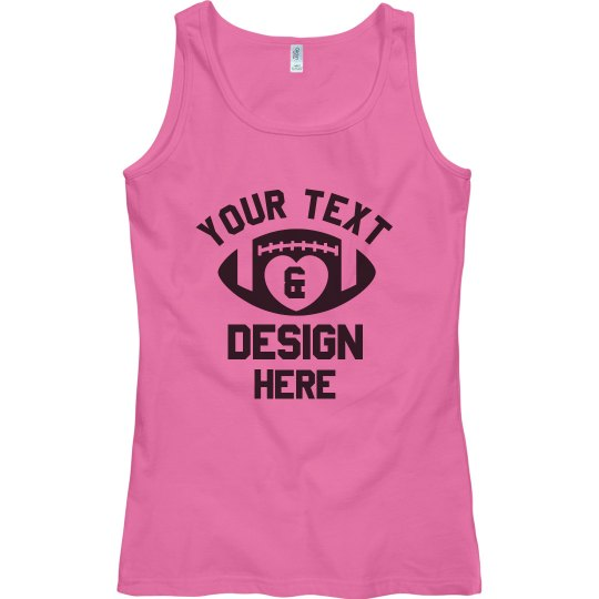 Custom Football Text & Design