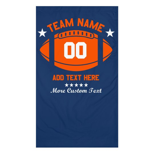 Custom Football Text & Number Face Cover