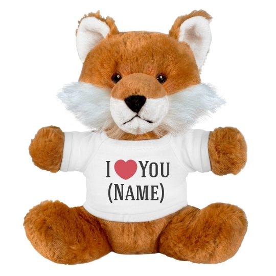 Custom Fox Loves Add Name