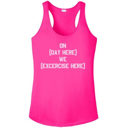Custom Funny Fitness Design