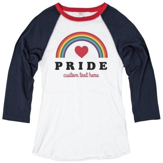 Custom Gay Pride Rainbow Raglan