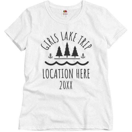 Custom Girls Lake Trip Group Tees