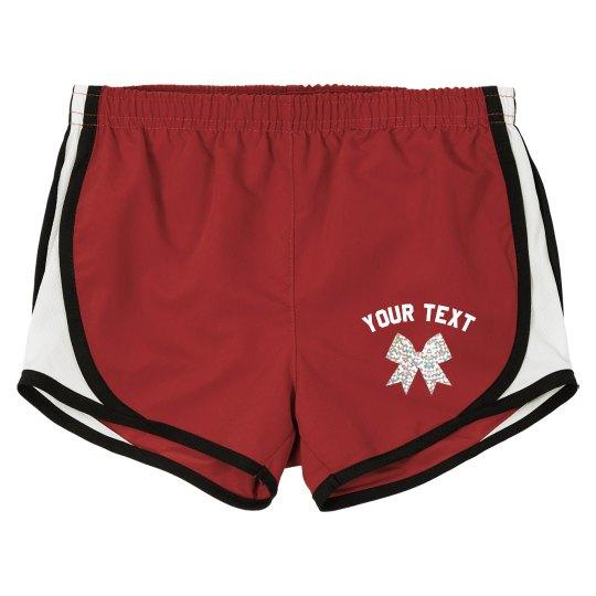 Custom Glitter Cheer Shorts