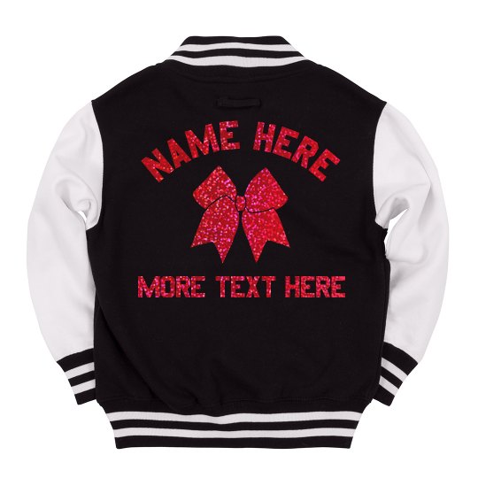 Custom Glitter Text Cheer Jacket