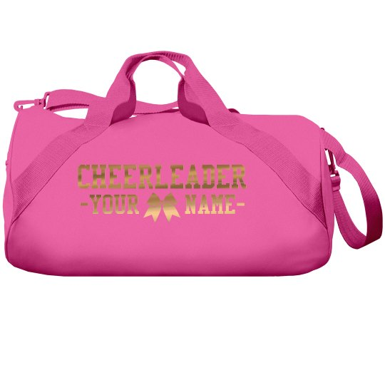 Custom Golden Metallic Cheer Bag