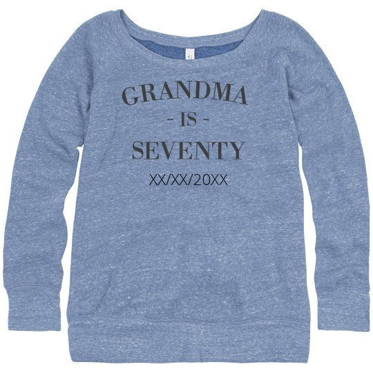 Custom Grandma Birthday Sweatshirt