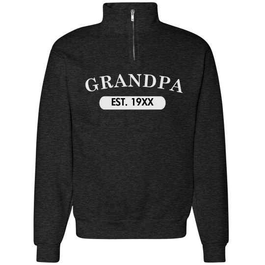 Custom Grandpa EST. Sweater