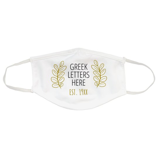 Custom Greek Sorority Mask