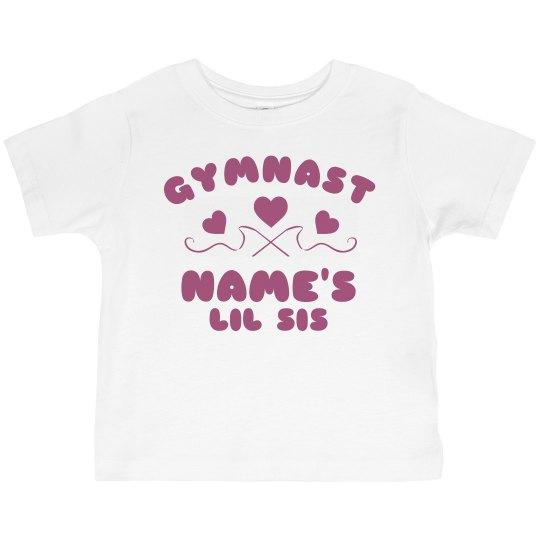 Custom Gymnast Lil Sis Tee