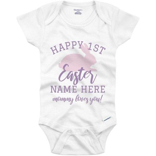Custom Happy 1st Easter Onesie