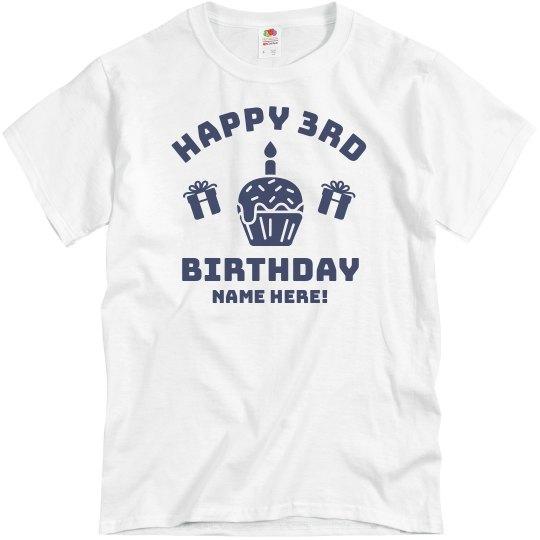 Custom Happy 3rd Birthday