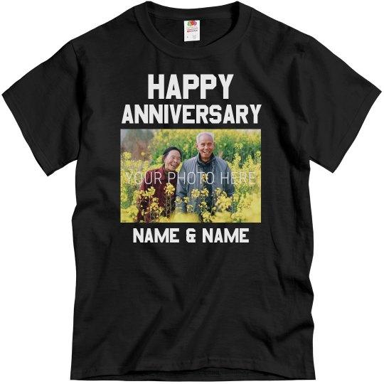 Custom Happy Anniversary Group Tees