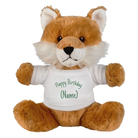 Custom Happy Birthday Fox Gift