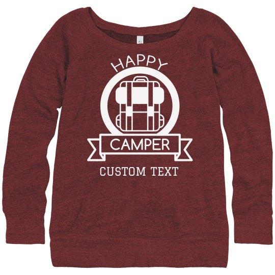 Custom Happy Camper Cozy Sweater