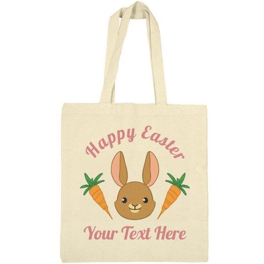Custom Happy Easter Bunny Bag