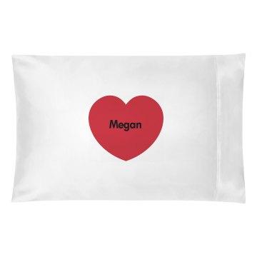Custom Heart Pillow Case