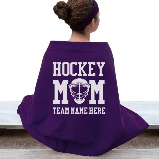 Custom Hockey Mom Blanket