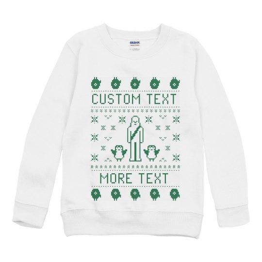 Custom Holiday Friends Text