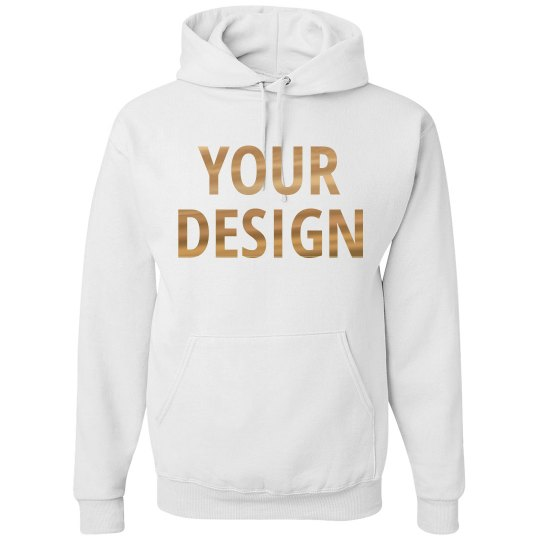 Custom Hoodie With Metallic Print