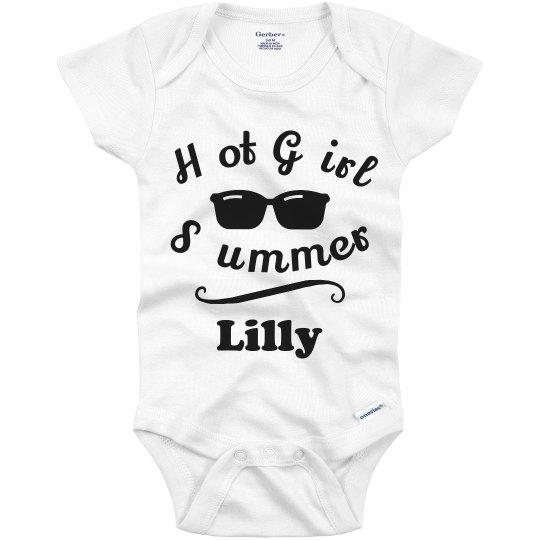 Custom Hot Girl Summer Baby Onesie