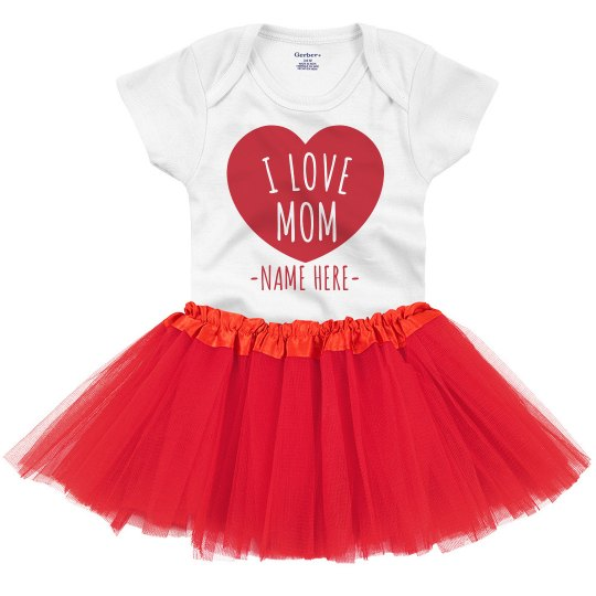 Custom I Love Mom Onesie