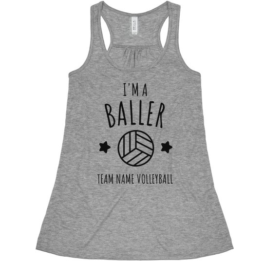Custom I'm A Volleyball Baller